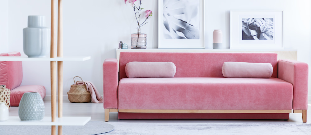 Pink Couch Very Clean